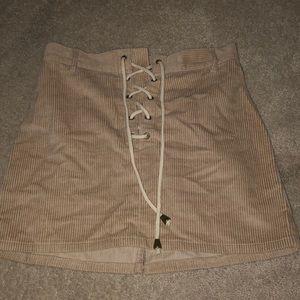Kendall and Kylie corduroy skirt
